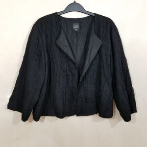 Eileen Fisher Textured Silk Open Front Jacket